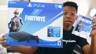 PS4 Neo Versa Bundle Unboxing - Code Giveaway (Fortnite Battle Royale)
