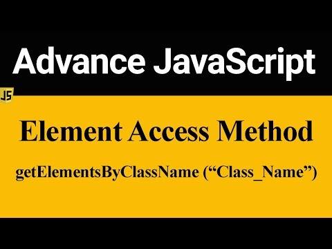 GetElementsByClassName Method In JavaScript (Hindi)