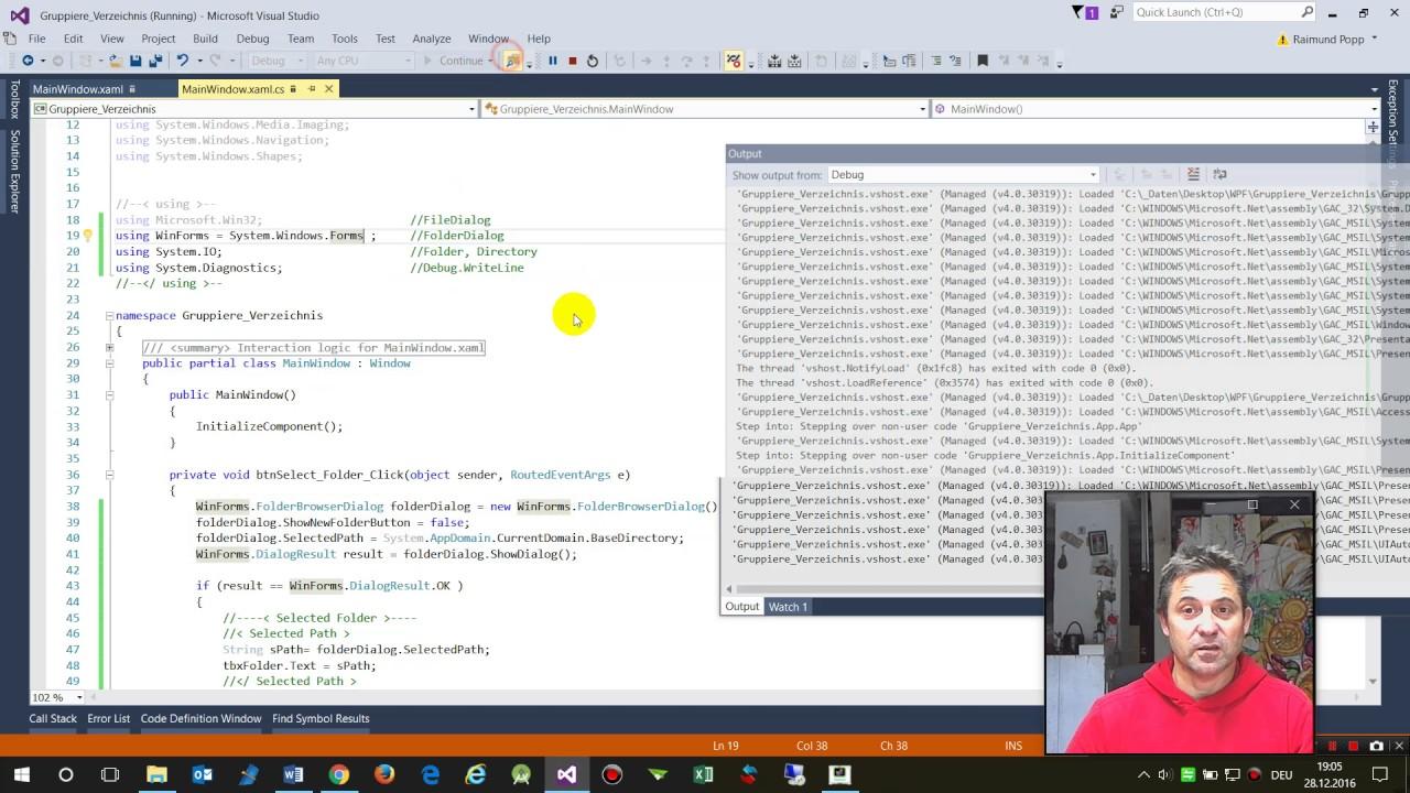 WPF: Folder Dialog And GetFiles