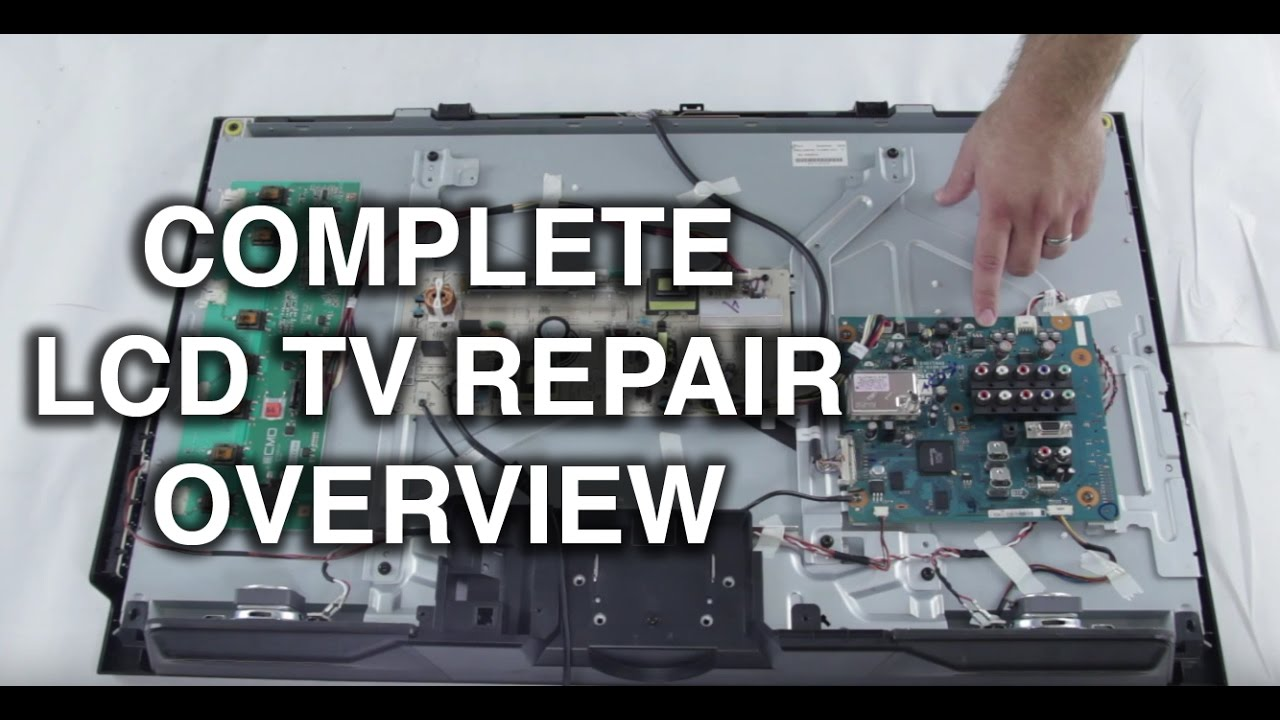 LCD TV Repair Tutorial  LCD TV Parts Overview, Common