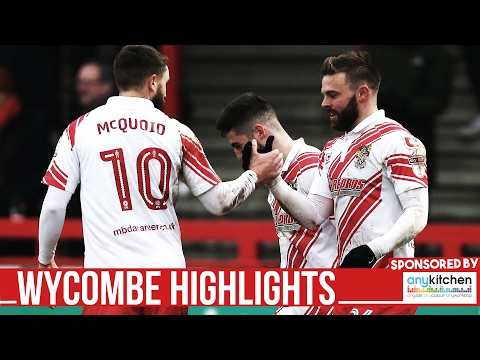 HD HIGHLIGHTS | Stevenage 3-0 Wycombe | League Two 2016/2017