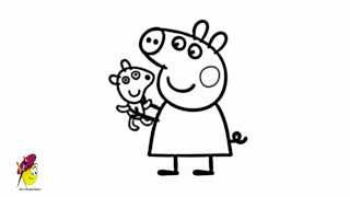 Pretty peppa pig - How to draw peppa pig