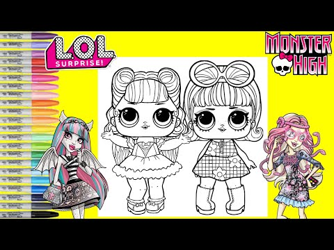 LOL Surprise Dolls Repainted as Monster High Rochelle Goyle & Viperine Gorgon LOL Surprise Makeover
