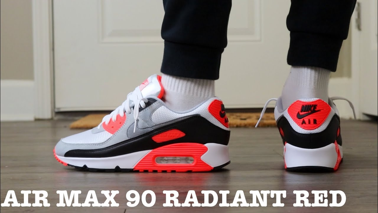 """REVIEW AND ON FEET OF THE 2020 AIR MAX 90 """"INFRARED"""" (AIR MAX 3 RADIANT RED)"""