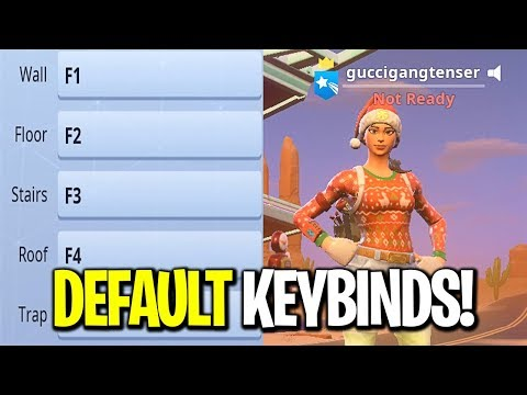 I put my Keybinds back to Default on Fortnite... (I TURNED INTO A BOT)