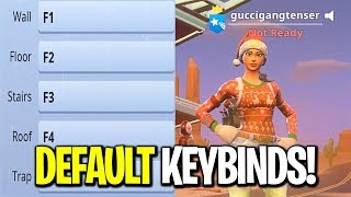 I put my Keybinds back to Default on Fortnite... (I TURNED INTO A BOT)