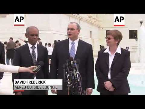 Lawyers representing major U.S. broadcasters and Internet TV company Aereo were optimistic about the