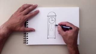 How to Draw - Grandfather Clock