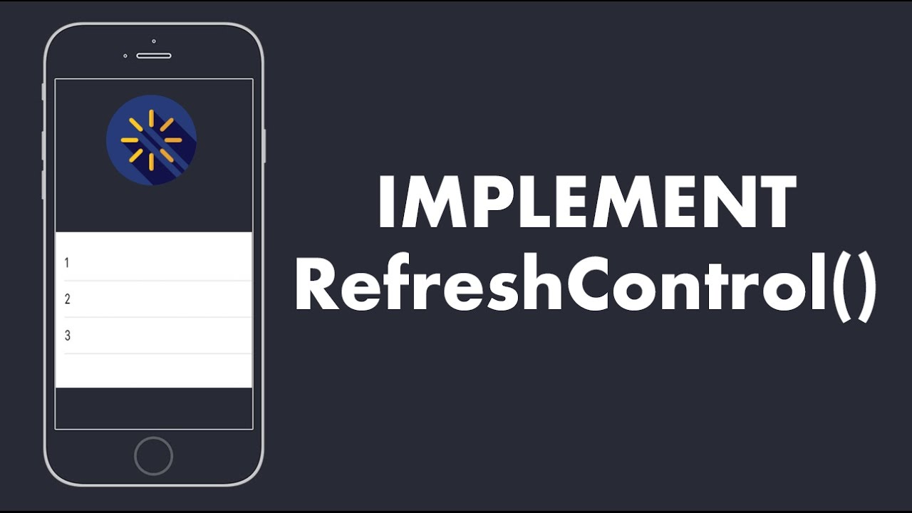 iOS: How to use Custom RefreshControl