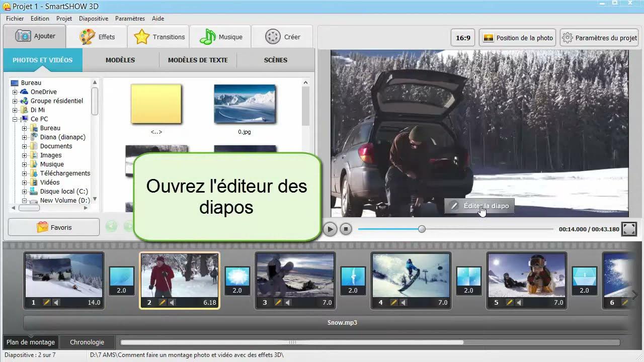 Comment faire un montage photo et vid o avec des effets 3d for Logiciel montage 3d