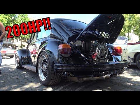 AMAZING!! 200HP VW Beetle (1974) - Start-up, Exhaust + Accerlations