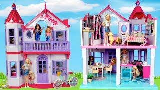 Лялька Барбі новий будинок мрії прикраси рожевий ванна кімната, кухня та спальня