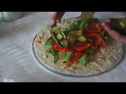 Sandwich Wrap with Hummus and Avocado by Quick Sandwich