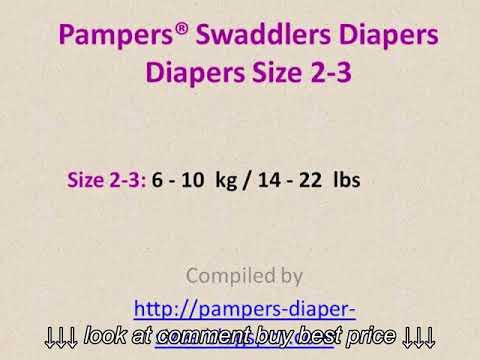 Pampers Swaddlers Diapers Size Chart By Weight