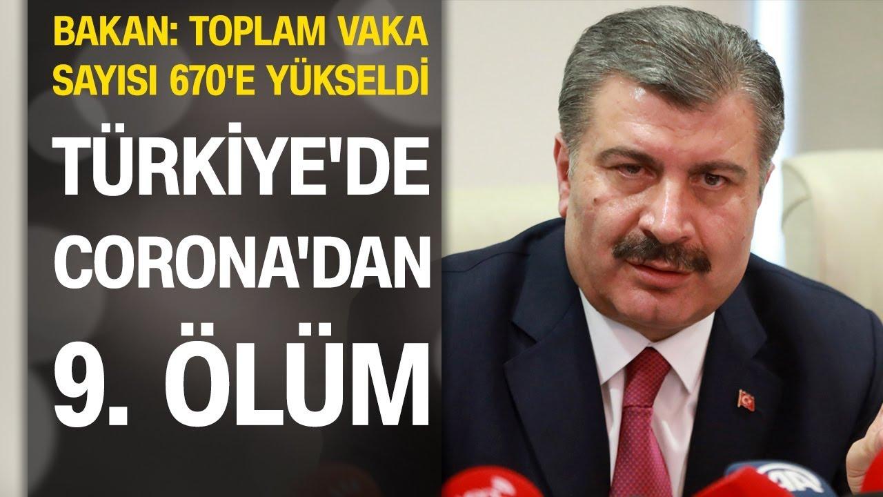 Türkiye'de koronovirüsten ölenlerin sayısı 9'a yükseldi: Toplam vaka sayısı 670
