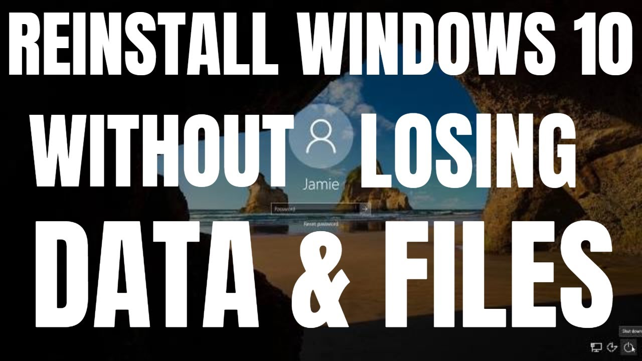 How To Reinstall Windows 10 WITHOUT Losing Personal Data/Files