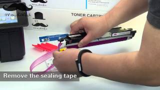 How to install Moustache HP 130A toner cartridge for HP Laserjet Pro MFP M177fw by 123Ink.ca