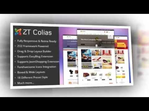 ZT Colias Responsive Ecommerce Joomla Template - Video ServerThemes.Net