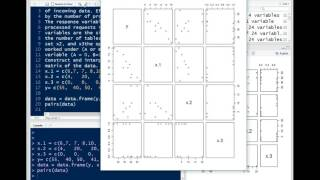 Creating and Interpretting a Scatterplot Matrix in R