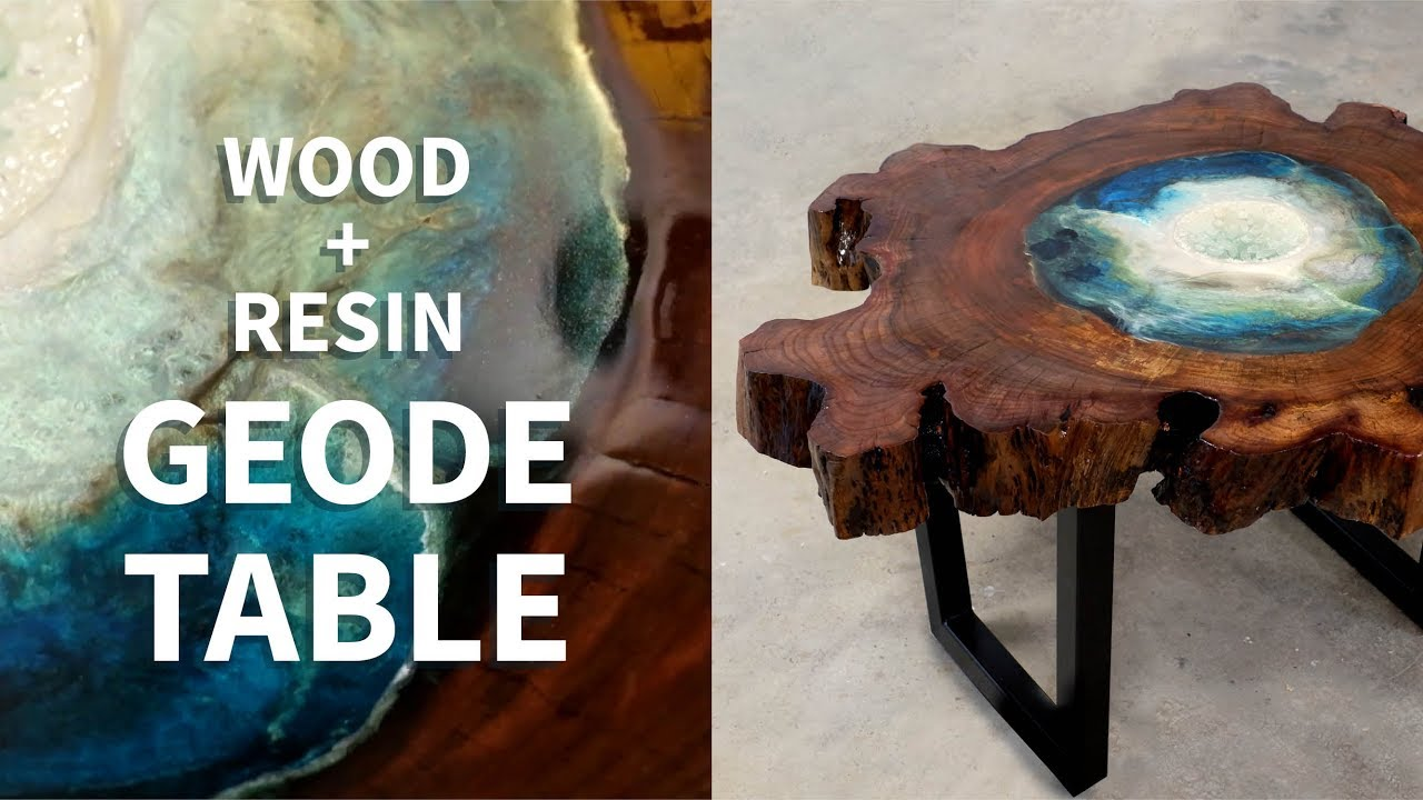 Resin Geode Table Like A River But Not