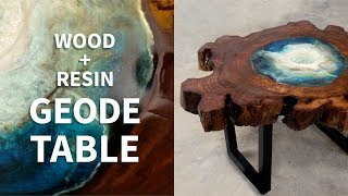 Resin Geode Table (like a River Table but...not!)