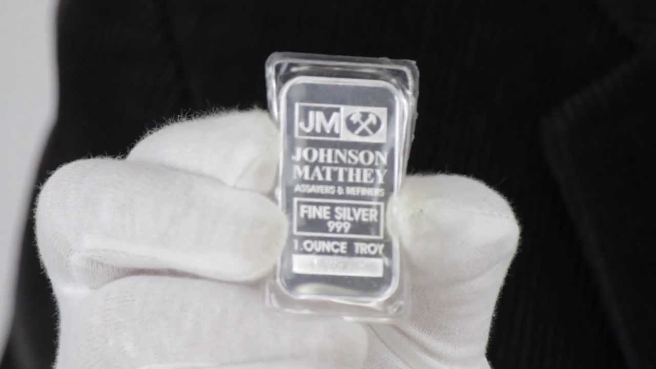 1 Oz Johnson Matthey Silver Bar 999 Fine Goldmart