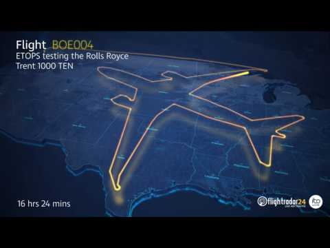 Boeing's ETOPS test of the Rolls Royce Trent 1000 TEN