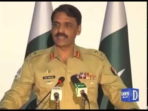DG ISPR Major General Asif Ghafoor press briefing