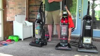 vacuum challenge hoover vs bissell vs eureka char s world