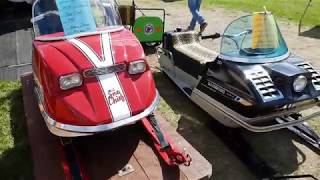 VINTAGE SNOWMOBILES AT BOONVILLE NY VINTAGE SNOWMOBILE SHOW