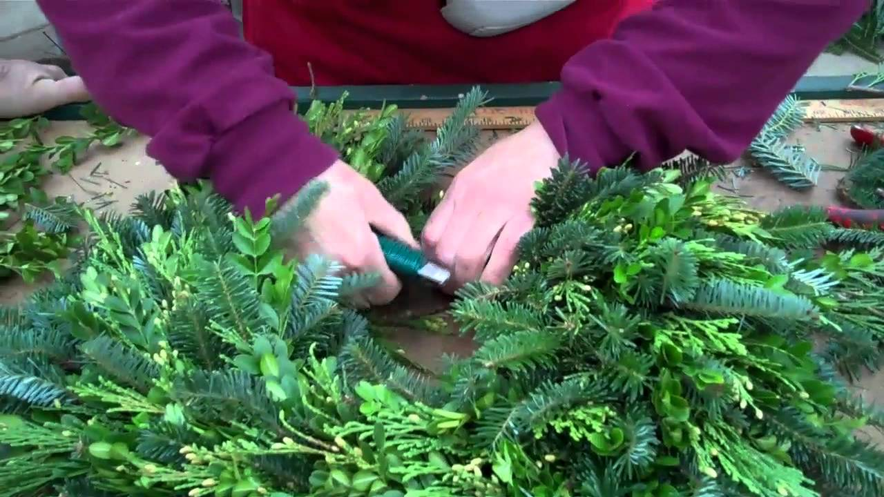 How to make a fresh christmas wreath - Wilson S Garden Center How To Make A Fresh Greens Wreath