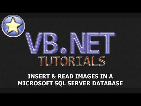 VB.NET Tutorial - INSERT Images Into a SQL Server Database (SHORT)
