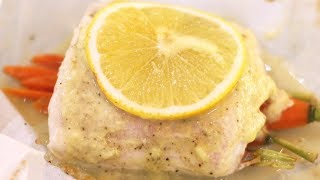 Halibut en Papillote with Creamy Leek Sauce Recipe