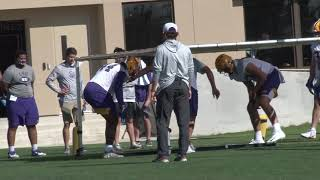 HIGHLIGHTS | First Media Allowed Football Practice In Over A Year- LSU Spring Football Practice