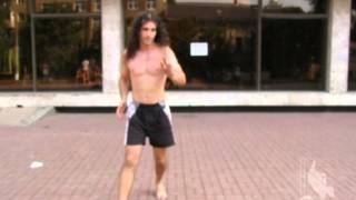 Летняя тренировка Senzala de Capoeira. Акробатика