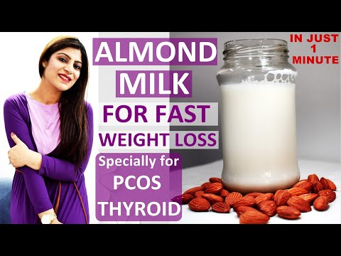 Almond Milk For Quick Weight Loss(In Hindi)-How To Make Almond Milk At Home In 1 Min- Health Benefit