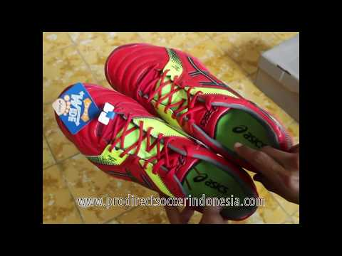 Sepatu Futsal Asics Destaque 6 J Wide  Red TST217 Original
