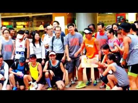 Asian Celebrity Run in Singapore of Asia