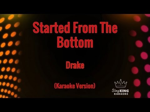 Drake - Started From The Bottom (Karaoke Version)