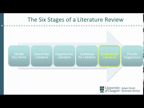 Stages in your literature review Part 3