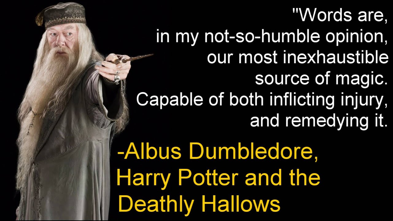Image result for word are magic albus dumbledore