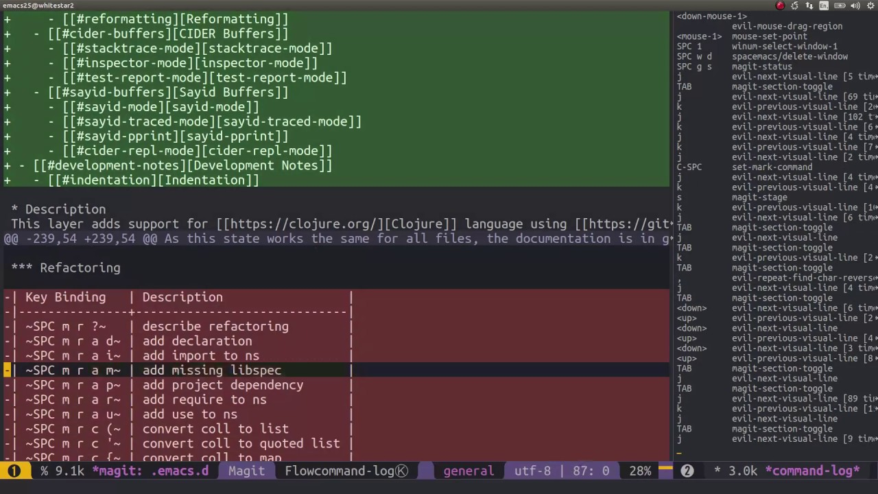 Contributing changes to Spacemacs via Pull Requests using Spacemacs and  Github