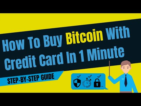 How To Buy Bitcoin With Credit Card In 1 Minute