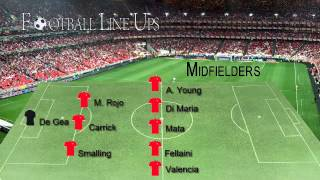 Manchester United 3-0 Hull City (United Lineup) Premier League 2014/2015