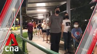 Ge2020: 8pm Queue At Palm View Pri, Polling Station For Sengkang Grc, As Voters Wait To Cast Ballots