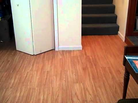 Trafficmaster Laminate Flooring trafficmaster hanover oak laminate flooring Installation Of A Floating Floor Using Allure Traffic Master Youtube