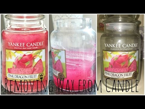 How to Remove Wax from a Candle Jar | DramaticMACvlogs
