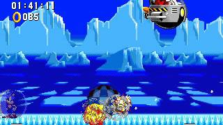Sonic Winter Adventures Walkthrough part 1 - The Frozen Island Zone