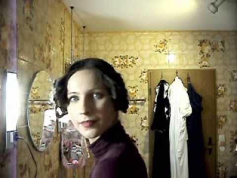 Historical Regency Updo for long hair (tutorial) - Jane Austen inspired - Pride and Prejudice