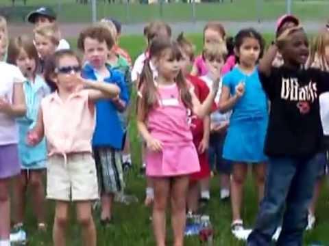 Selena Engelman singing at Sandymount Elementary School